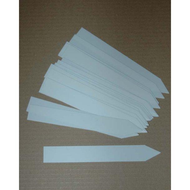 Planteskilte af plast - stor Hvide