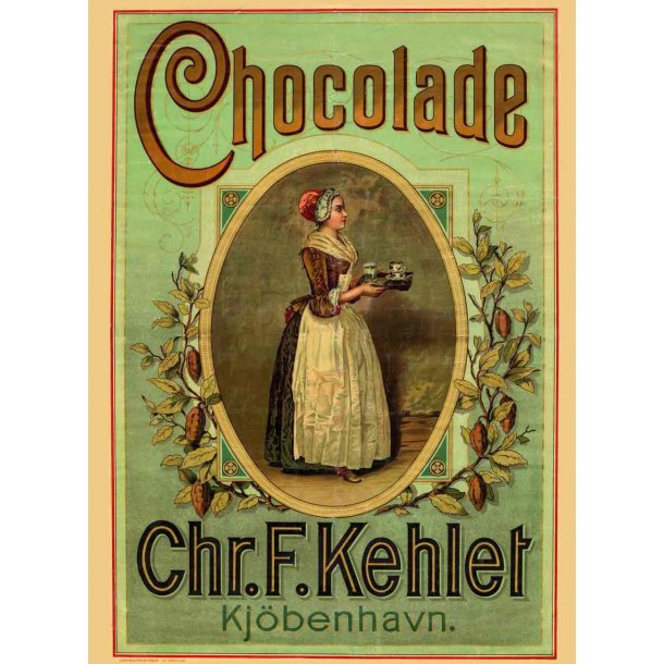Chr. F. Kehlets Chokolad - magnet
